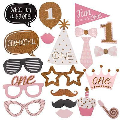 20x Photo Booth Props First 1st Birthday Party Baby Shower Photograph Boys Girls