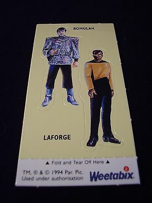 Weetabix - Star Trek Next Generation Collectors Cards 1994 Romulan / Laforge
