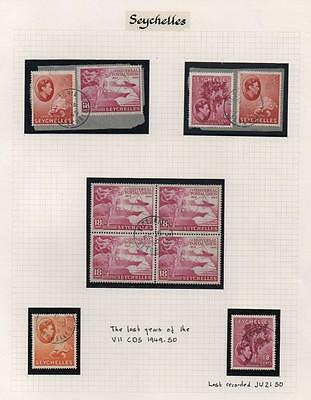 SEYCHELLES: 1949-1950 Examples - Ex-Old Time Collection - Album Page (6748)