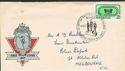 Australia 1962 Commonwealth Games Fdc