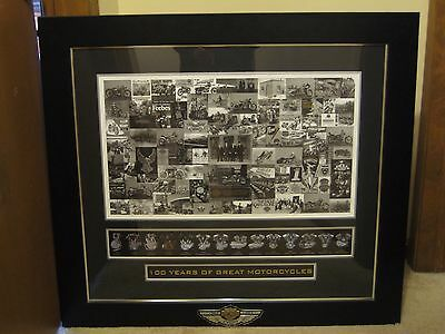 Harley-Davidson 100th Anniversary DEALER EXCLUSIVE Framed Matted Print, 100 Made