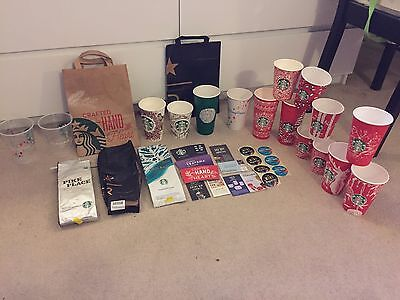 Starbucks paper cups uk and cards and bags collectable reserve Disney Teavana