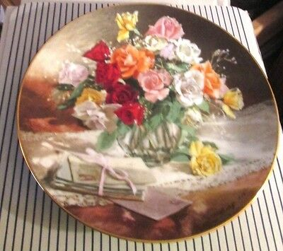 W.L. GEORGE COLLECTOR PLATE 1988...ROSES by Vieonne Morley