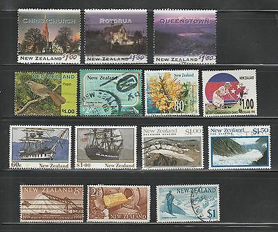 New Zealand, 14 Used On Scan, CV-$20.95
