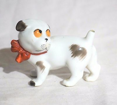 Antique Gotha Pfeffer Porzellan Germany Porcelain Dog Figurine - Blue Stamp