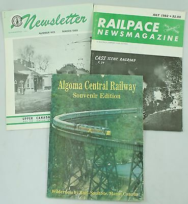 Canada Railway Society Newsletter Railspace Newsmagazine Algoma Railway Lot