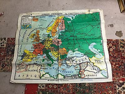 Old Kaeppelin Large French Political Double Sided School Map
