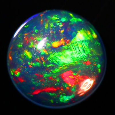 4Mm Round Top Super Rainbow Electric Ethiopian Fire Welo Opal Wholesale Price