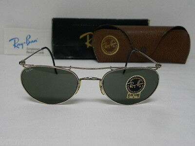 New Vintage B&L Ray Ban Deco Metals Oval Silver G-15 W1536 Aviator NOS