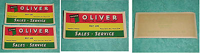 1946 Oliver Tractor Farm Machinery Water Dip Sticker Decal Lee  Hanston Ks  Nos