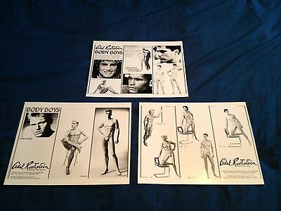 Adel Rootstein Mannequins Glossy Catalog Sheets For Body Boys Series