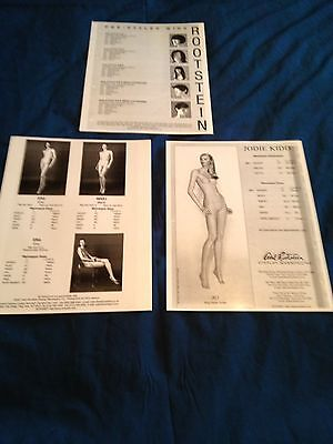 Adel Rootstein Mannequins Glossy Catalog Sheets, Wigs, Erin, Jodie Kidd Series