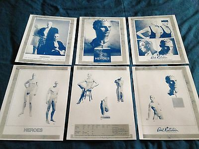 Adel Rootstein Mannequins Glossy Catalog Sheets For Heroes Series