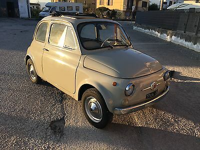 1967 Fiat 500 Beige Chiaro with Ocra/White interior ORIGINAL FIAT 500 F 1967 UNRESTORED perfect running and driving, TIME WARP - ROUND SPEEDO