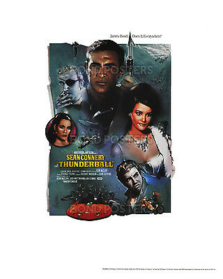 Thunderball - Official Limited Edition James Bond Lithograph