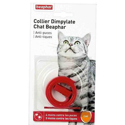 Collier anti-puce Dimpylate Beaphar chats Rouge