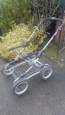 Silver Cross Classic Pushchair Chassis Frame with wheels & basket