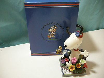 """Westland Peanuts on Parade """"Jumpin for Joy"""" #8395 Snoopy Figure SIGNED BY ARTIST"""