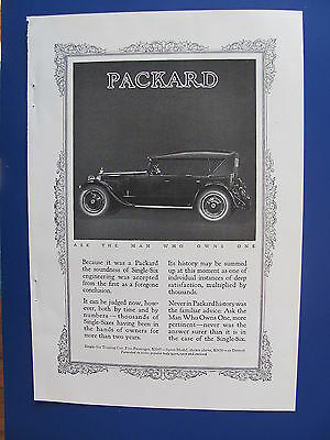 1923 Packard  Six Automobile Ad   Ask The Man Who Owns One