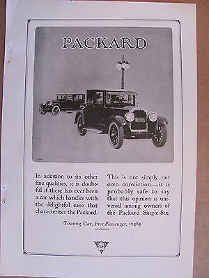 1923 Packard 5 Passenger Touring Car Automobile Ad