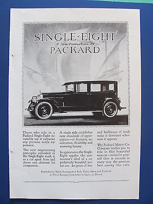 1923 Single Eight Packard Automobile  Ad  New Production