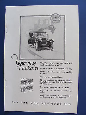 1925 Packard Your 1925 Packard Automobile  Ad