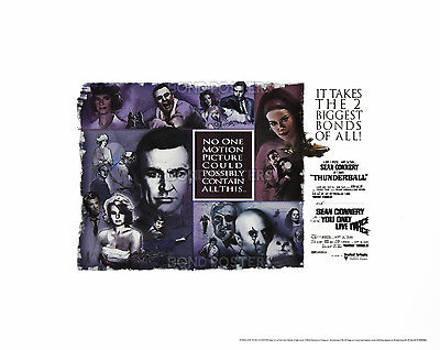 Thunderball / You Only Live Twice - Official Ltd Ed James Bond Lithograph