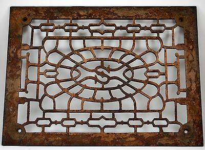 Antique Vintage Cast Iron Sheraton Hotel ? Gothic Heating Vent Grate Arc Salvage