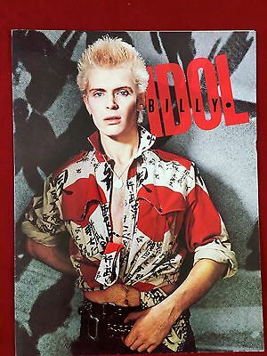 OFFICIAL BILLY IDOL PRESS KIT for His First Solo Album 8X10 Picture Bio