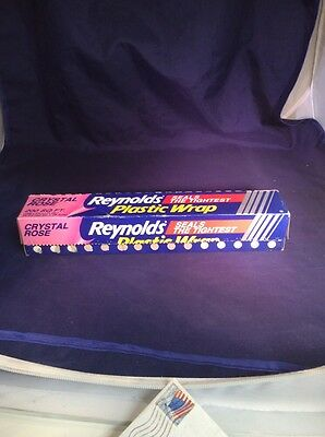 Rare Crystal Rose Reynolds Plastic Wrap Partial Roll Easter St Paddys