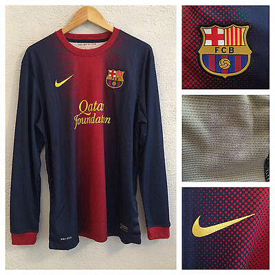 2012/13  Barcelona player issue l/s home shirt