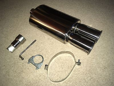 """High Performance Stainless Steel Exhaust Back Box - 3"""" Twin Rolled"""