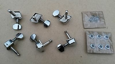 Left handed 6 in a row electric guitar Machine Head Tuners for Strat/ Tele