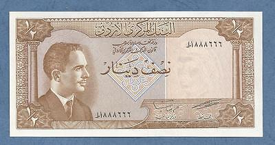Lovely Serial Number Jordan 1959UNC 1/2 Dinar
