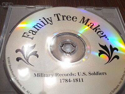Family Tree Maker CD Military Records: U.S. Soldiers 1784-1811 War Genealogy