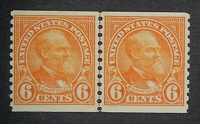 US MNH 723 Coil Line Pair FRESH 1932 Garfield issue mint 6 cent joint lp 2G