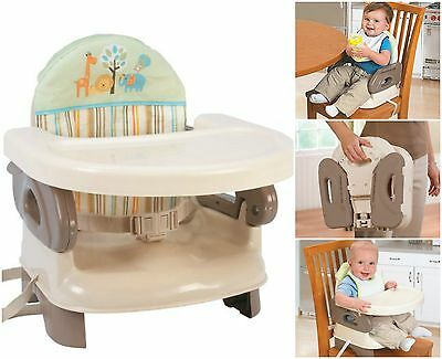 Summer Infant Deluxe Comfort Folding Booster Seat Tan Baby Feed Folding Chair