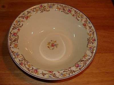 Taylor Smith & Taylor china - Floral Serving Bowl, Blue-Red-Yellow-Brown