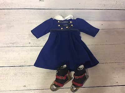 American Girl Doll Caroline's Winter Coat with Boots and Ice Skates Retired!