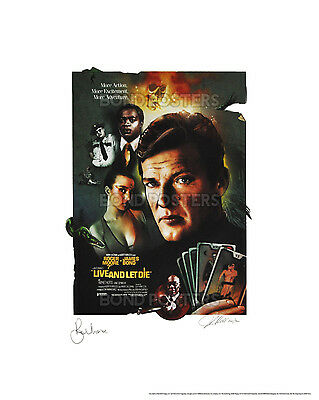 Live And Let Die - Official James Bond Lithograph - SIGNED by Moore & Artist!