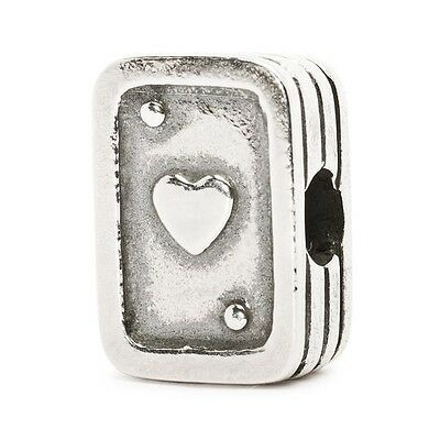 """Trollbeads GENUINE SSilver 925S LAA NEW! """"PLAYING CARDS"""" BEAD - 50% OFF"""