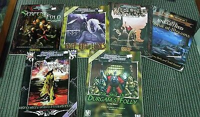 D20, Dungeons and Dragons, Sword and sorcery assorted non official modules.