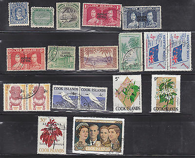 COOK ISLANDS 33 Used & Mint Stamps Issued 1893-1973