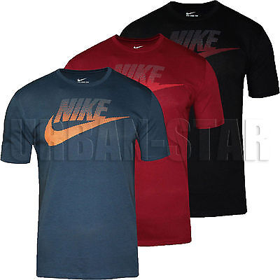 New Mens Nike Oversize Speckle Futura T-Shirt Retro Swoosh Top Crew Neck T Shirt