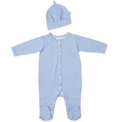 NEW Marquise Blue Striped Studsuit & Beanie Set Size 000