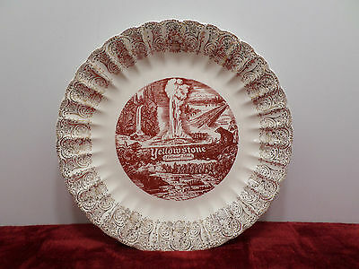 Yellowstone National Park Collector Plate Porcelain Vintage