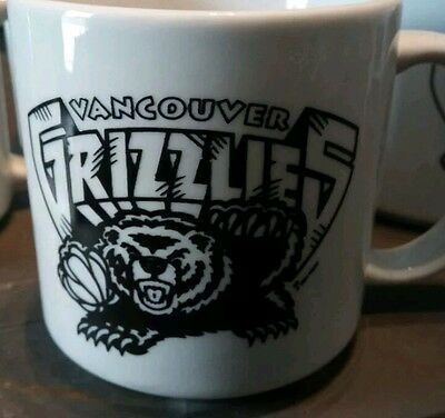 Vintage and RARE 8 Vancouver Grizzles coffee mugs