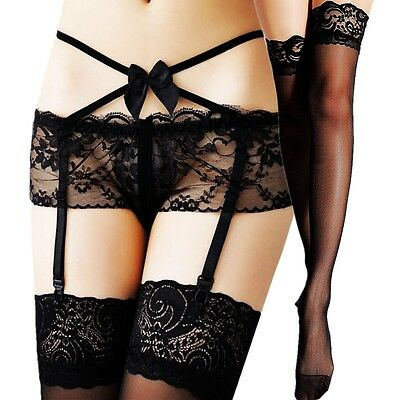 Women Thigh-Highs Stockings Nylon Fashion Lace Top Garter Belt Suspender Hold Up