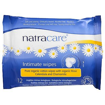 2 x Natracare Feminine Wipes Pure Organic Intimate Cotton Wipes