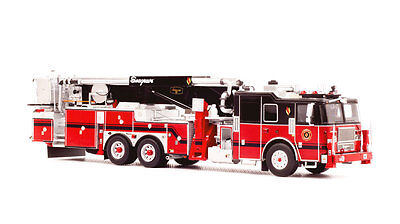 Seagrave Tower Ladder - Black over Red - 1/50 Fire Replicas 95' Aerialscope New